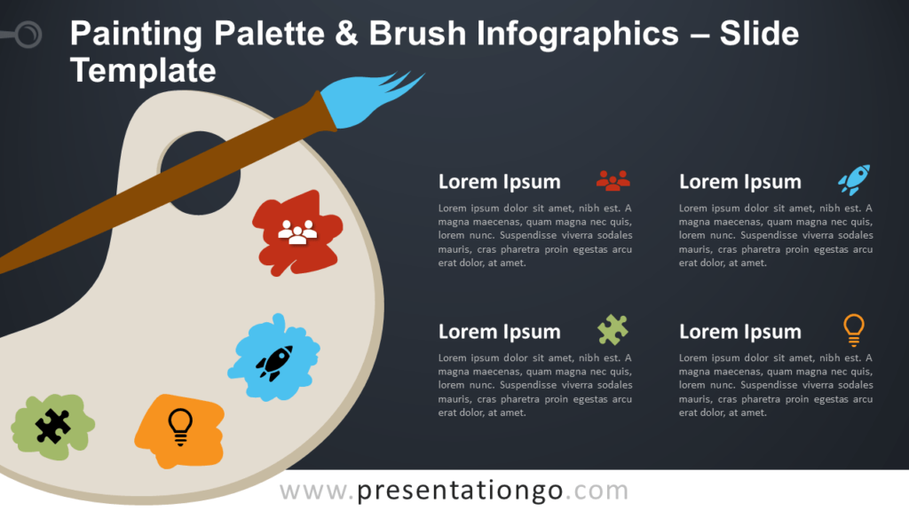 Free Painting Palette Brush Infographic for PowerPoint and Google Slides