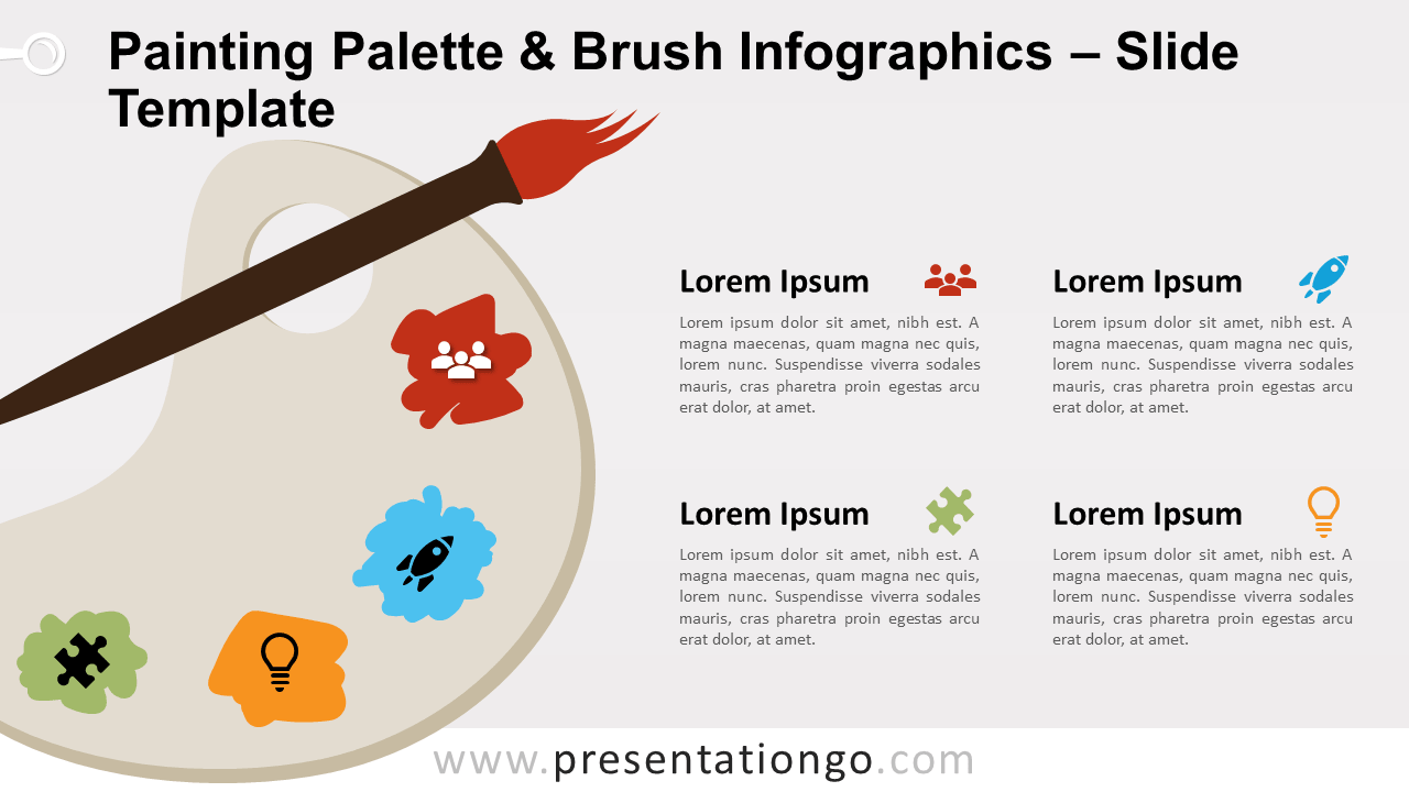 Free Painting Palette Brush for PowerPoint and Google Slides