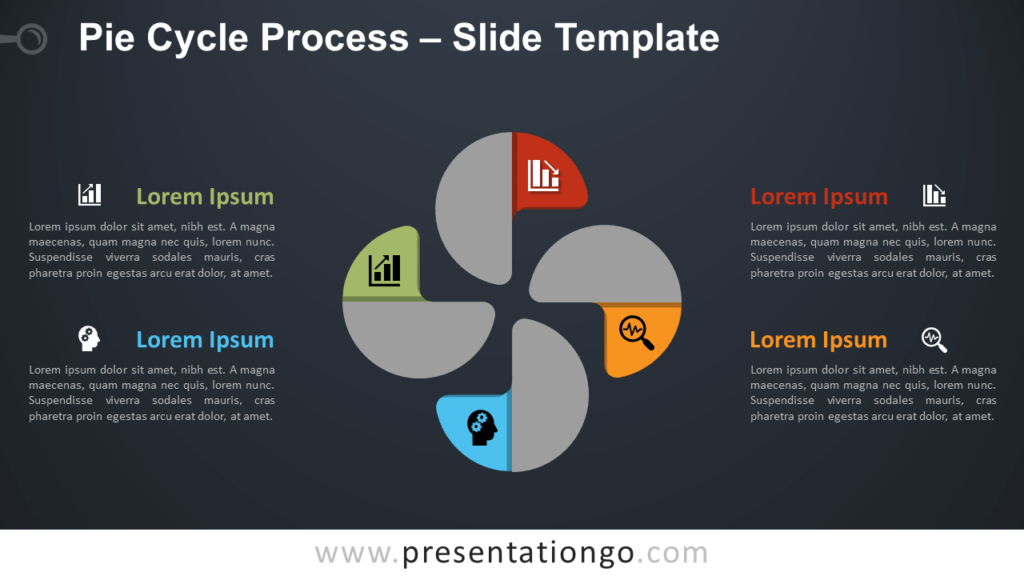 Free Pie Cycle Process Infographic for PowerPoint and Google Slides