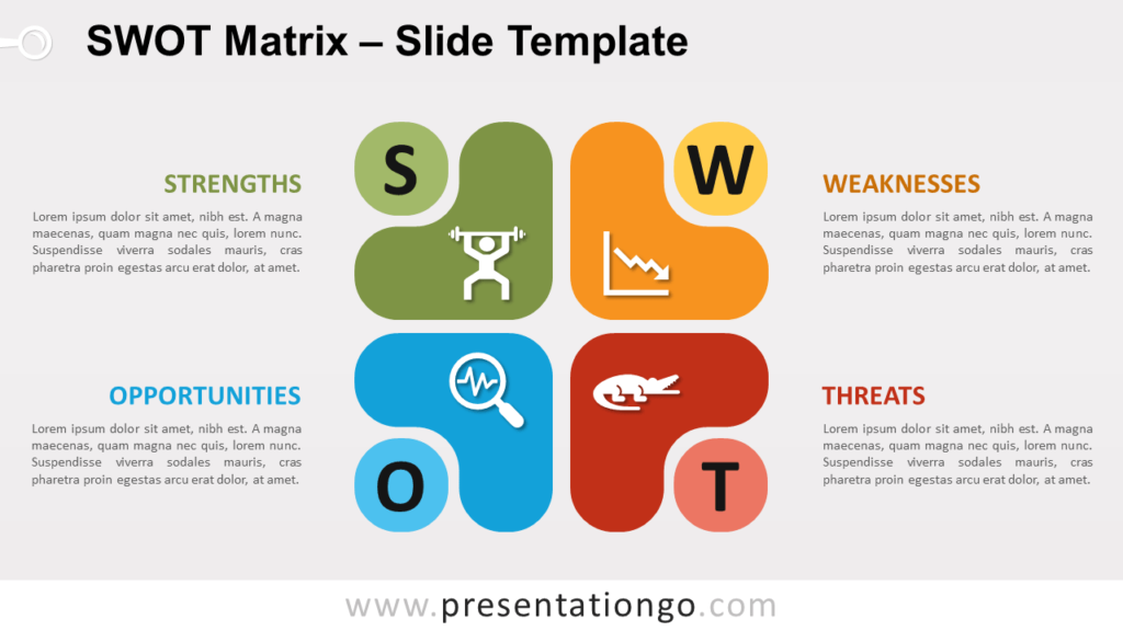 Free SWOT Abstract Matrix for PowerPoint