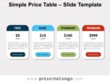 Free Simple Price Table for PowerPoint