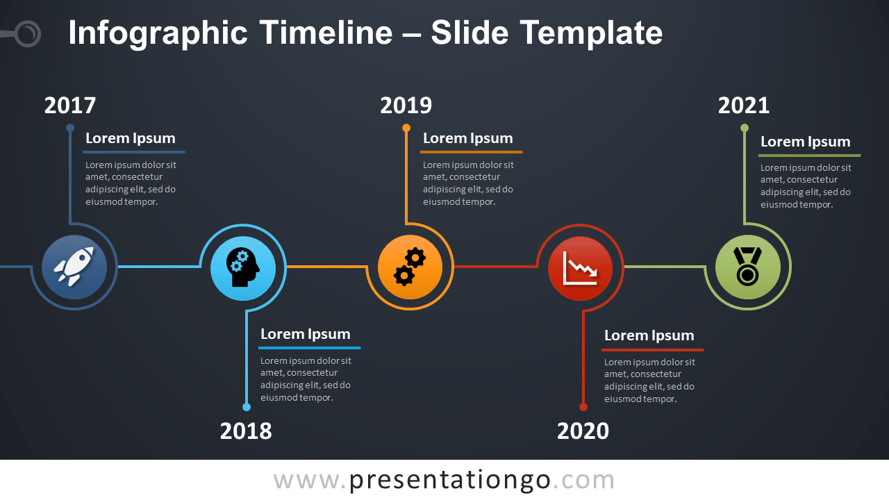 Free Timeline Infographic for PowerPoint and Google Slides