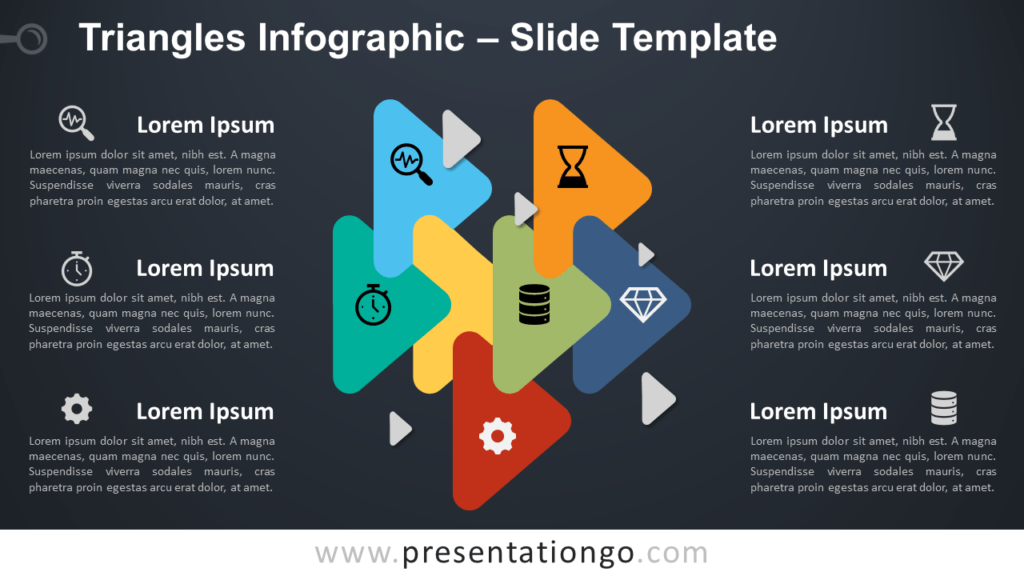 Free Triangle Relationship Infographic for PowerPoint and Google Slides