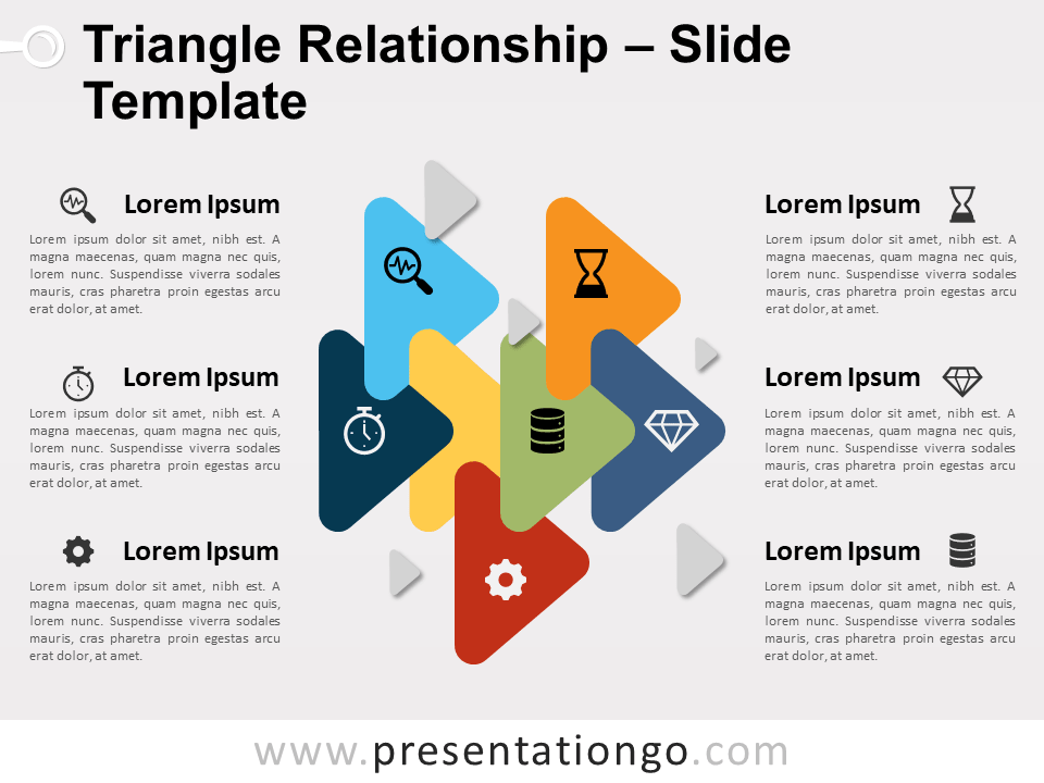 Free Triangle Relationship for PowerPoint