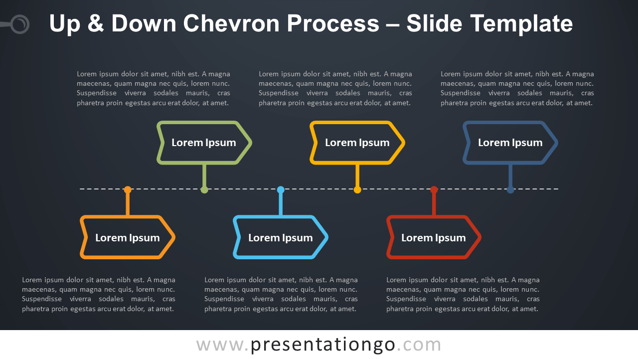 Free Up and Down Chevron Process Infographic for PowerPoint and Google Slides
