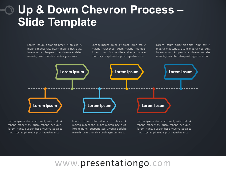 Free Up and Down Chevron Process Infographic for PowerPoint