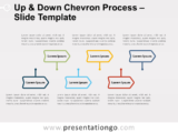 Free Up and Down Chevron Process for PowerPoint