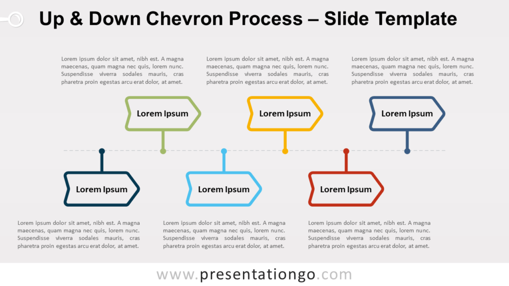 Free Up and Down Chevron Process for PowerPoint and Google Slides