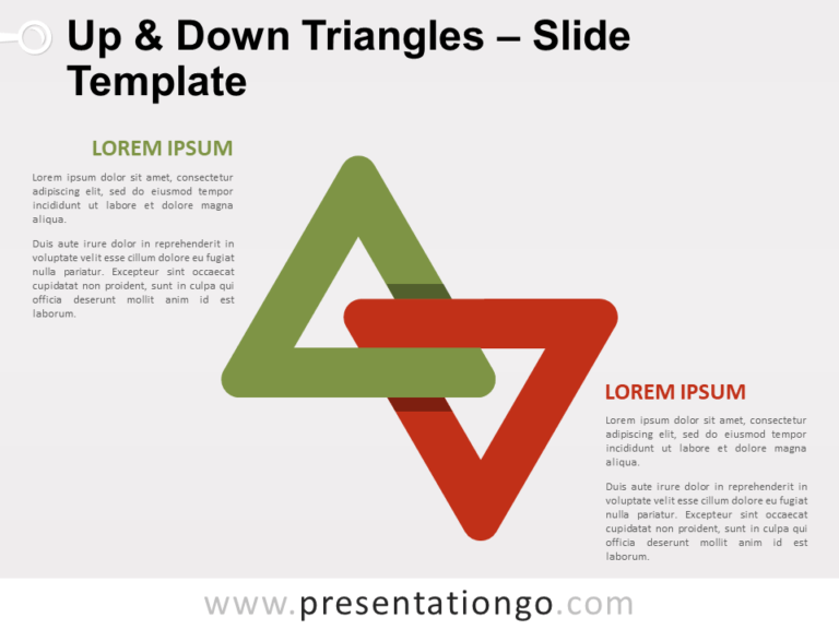 Free Up and Down Triangles for PowerPoint