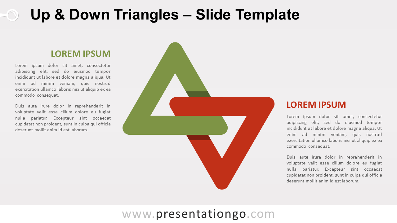 Free Up and Down Triangles for PowerPoint and Google Slides