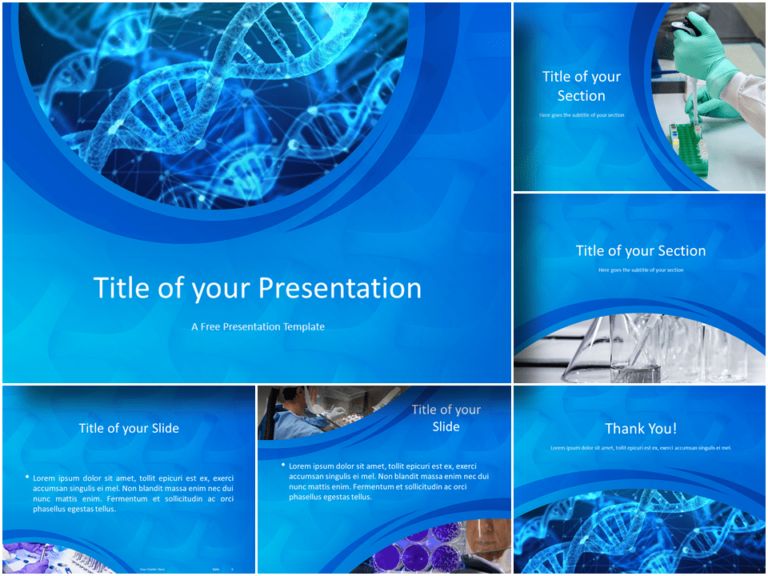 Free Medical Research Template for Powerpoint and Google Slides - Featured Image