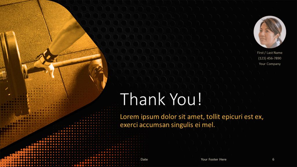 06 - CROSSFIT Sports - Free Google Slides Template - Closing