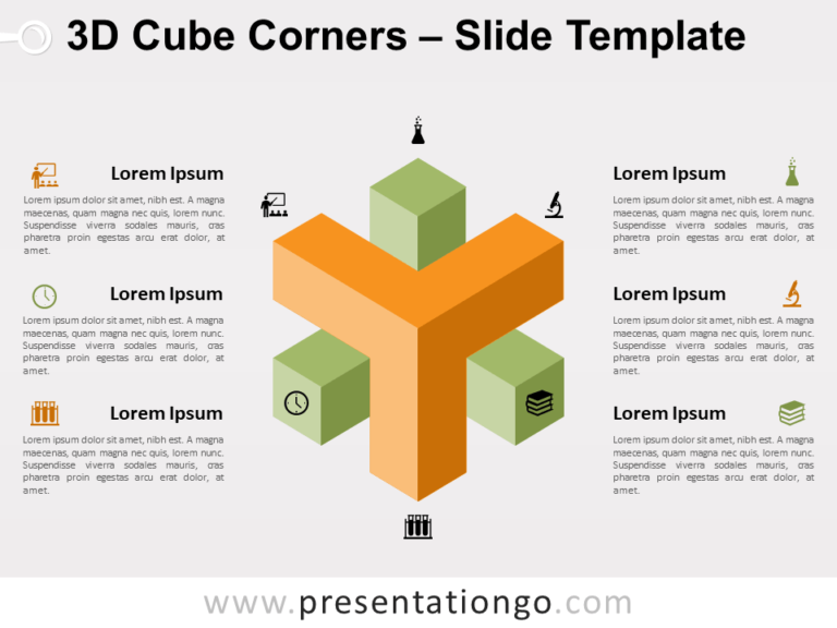 Free 3D Cube Corners for PowerPoint