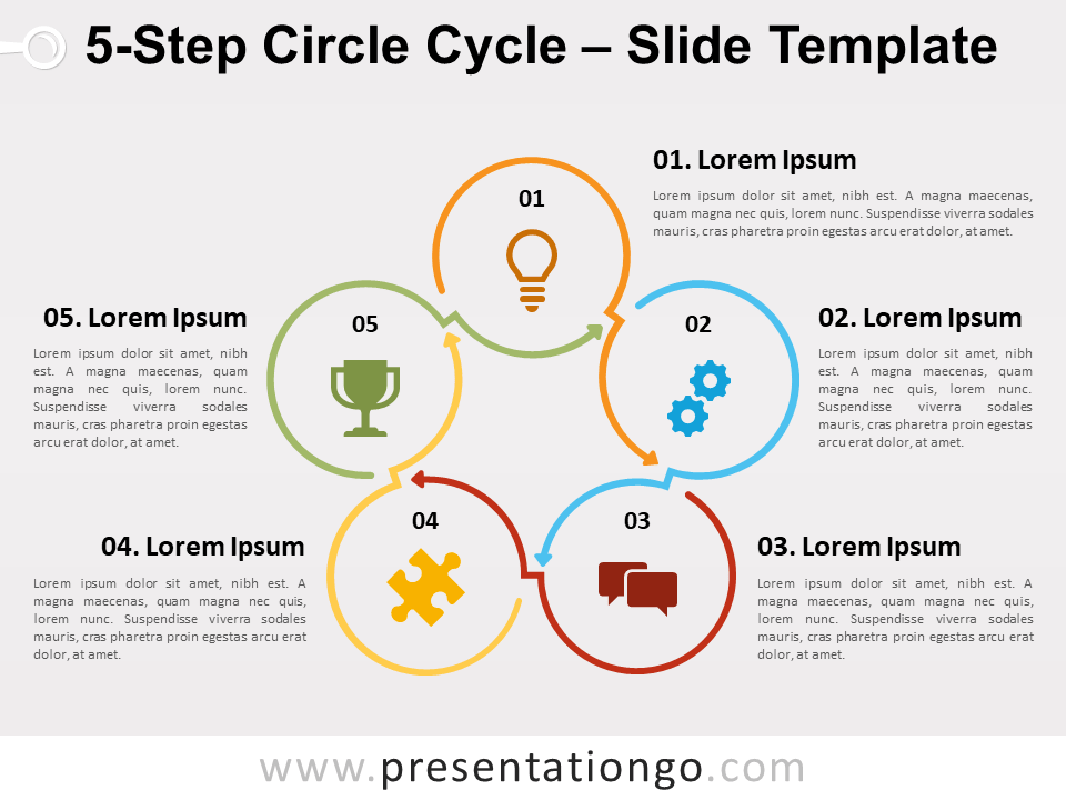 Free 5 Step Circle Cycle for PowerPoint