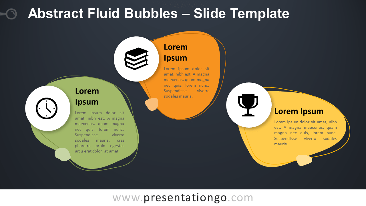 Free Abstract Fluid Bubbles Infographic for PowerPoint and Google Slides