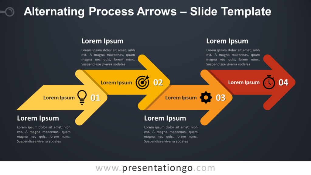 Free Alternating Process Arrows Infographic for PowerPoint and Google Slides