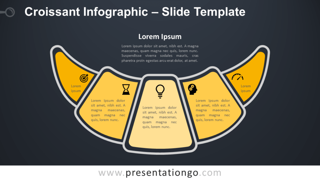 Free Croissant Infographic for PowerPoint and Google Slides
