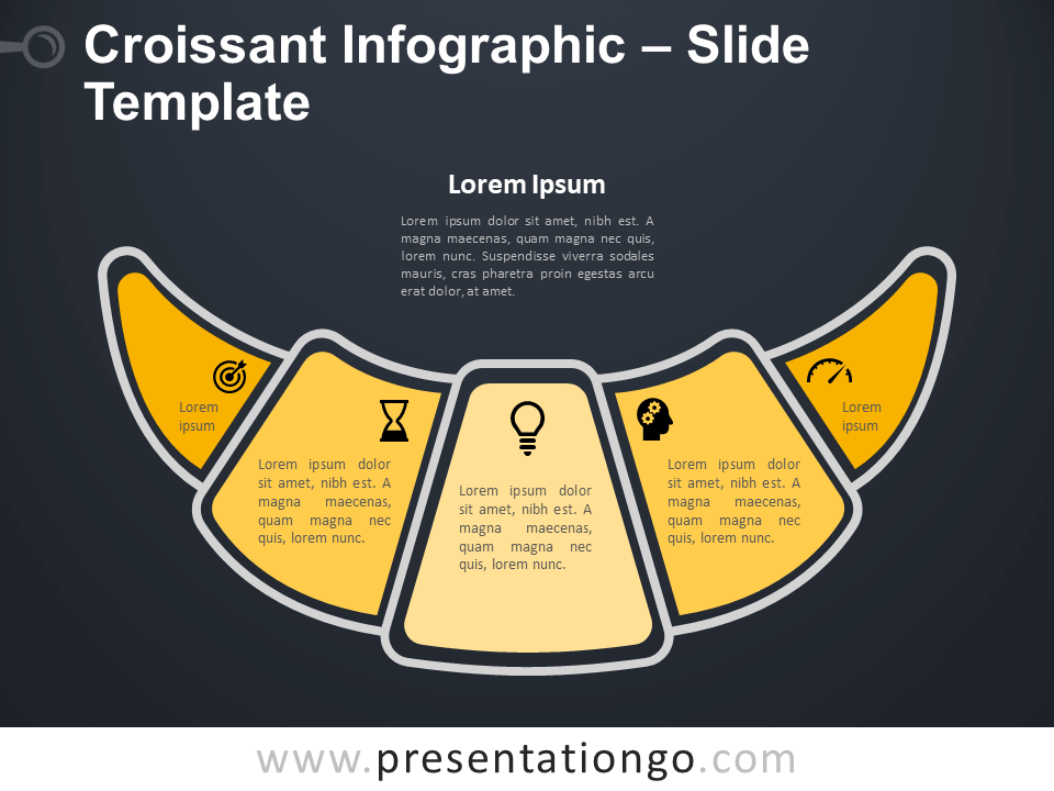 Free Croissant Infographic for PowerPoint