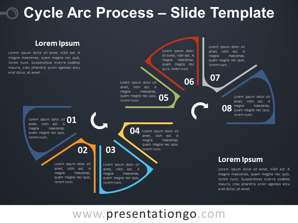 Free Cycle Arc Process Infographic for PowerPoint