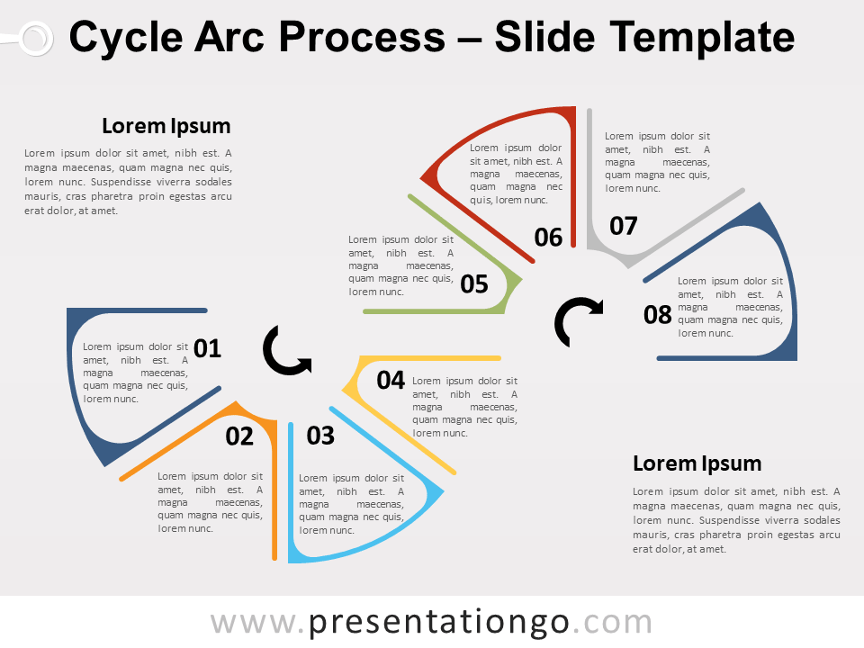 Free Cycle Arc Process for PowerPoint