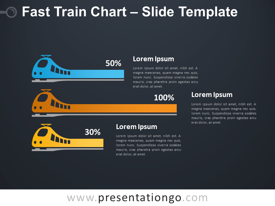 Free Fast Train Chart Infographic for PowerPoint