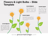Free Flowers Light Bulbs for PowerPoint