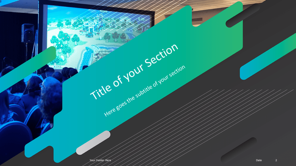 Free Gaming Template for Powerpoint and Google Slides - Section Header