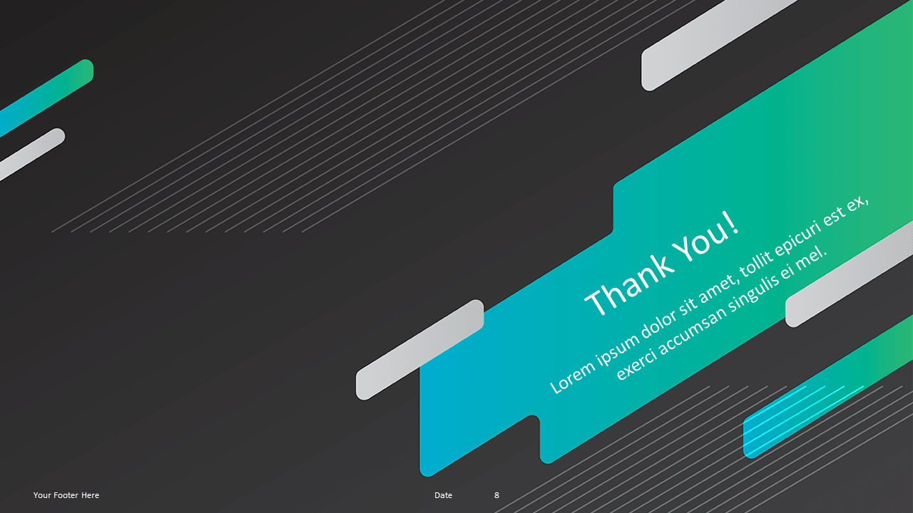 Free Gaming Template for Powerpoint and Google Slides - Thank You