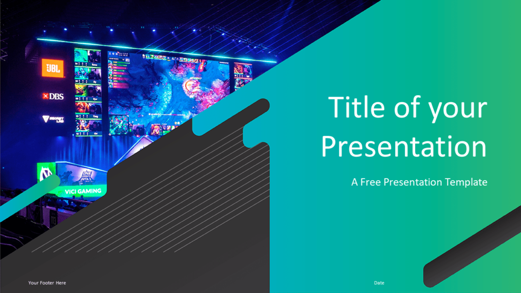 Free Gaming Template for Powerpoint and Google Slides - Title Slide