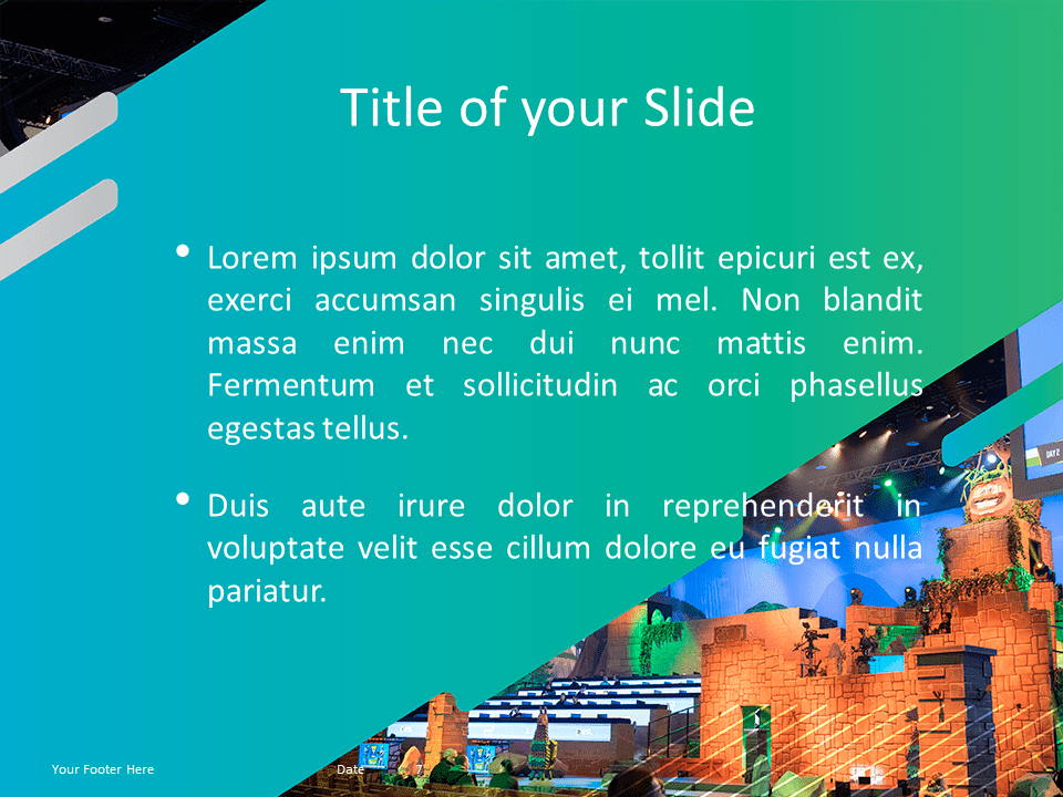 Free Gaming Template for Powerpoint - Panoramic Picture with Caption