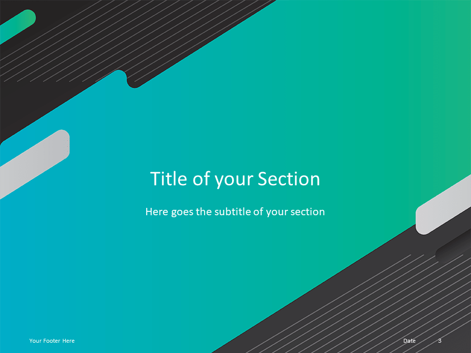 Free Gaming Template for Powerpoint - Section Header Alternative