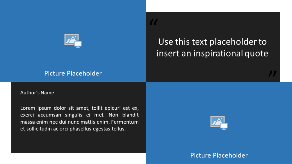 Free Gray Frame Template for Powerpoint and Google Slides - Quote Placeholders