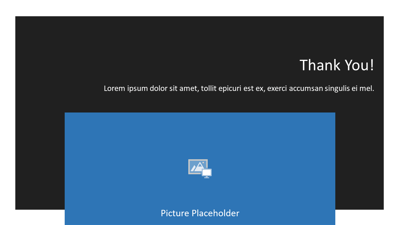 Free Gray Frame Template for Powerpoint and Google Slides - Section Header Thank You