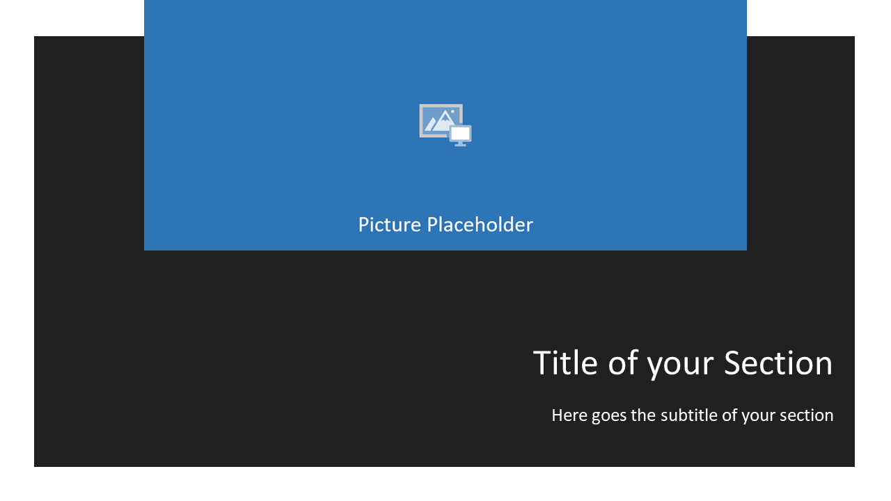 Free Gray Frame Template for Powerpoint and Google Slides - Section Header