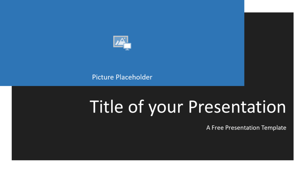 Free Gray Frame Template for Powerpoint and Google Slides - Title Slide