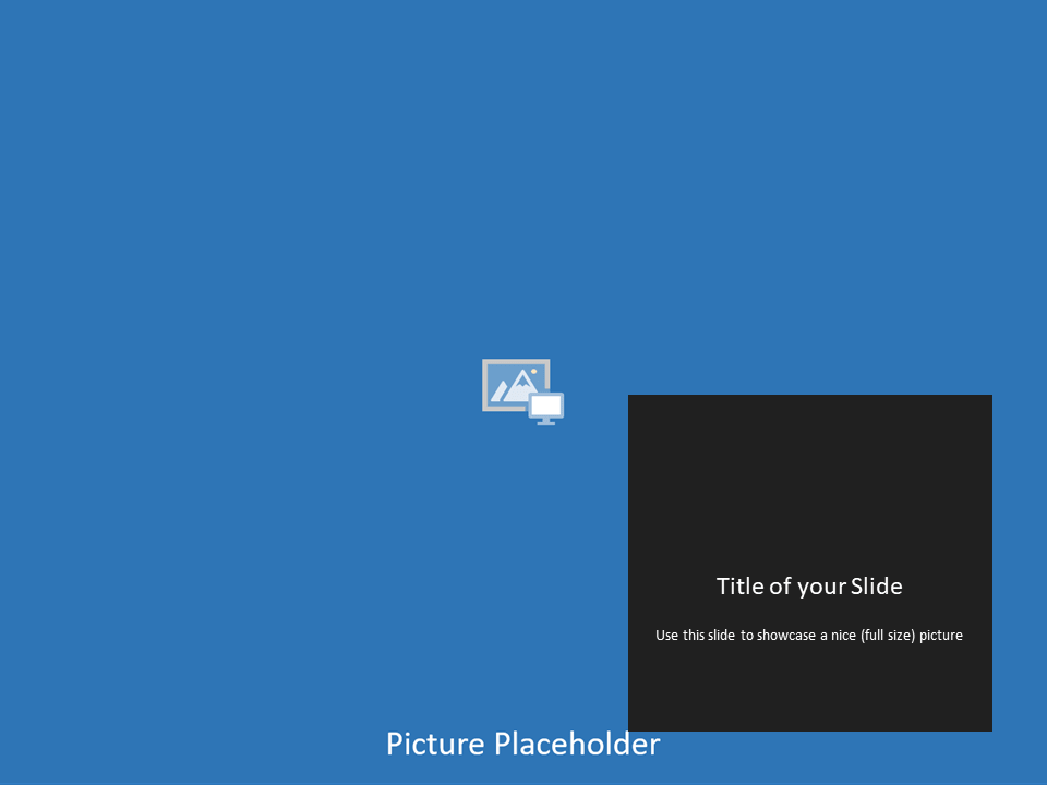 Free Gray Frame Template for Powerpoint - Panoramic Picture Placeholder