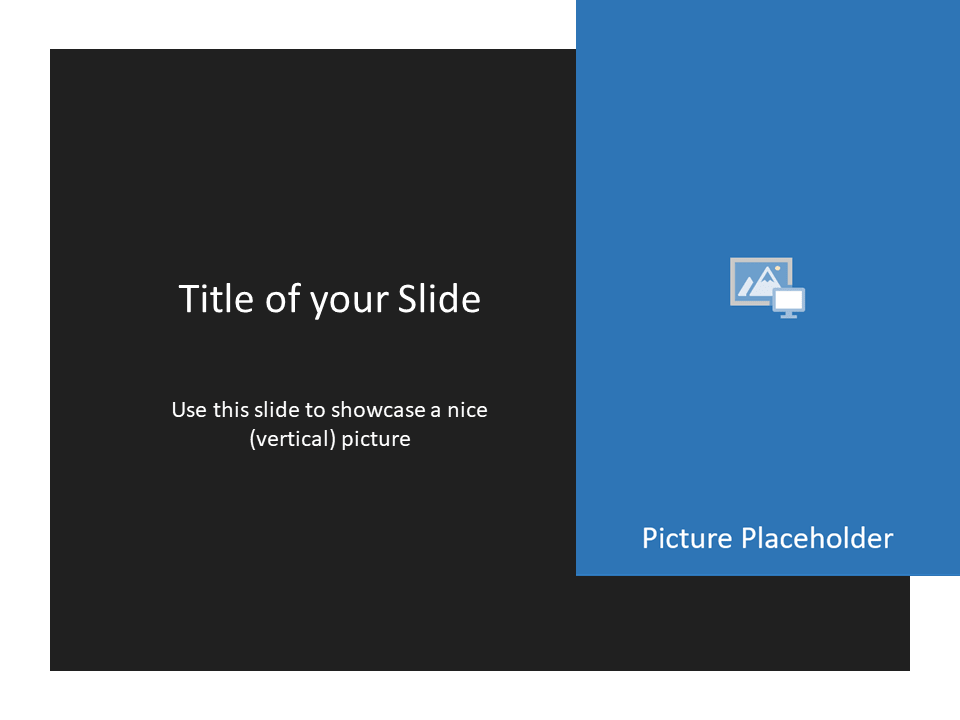 Free Gray Frame Template for Powerpoint - Picture Placeholder