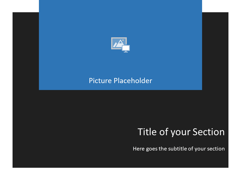 Free Gray Frame Template for Powerpoint - Section Header alternative