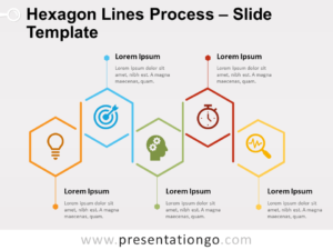 Free Hexagon Lines Process for PowerPoint