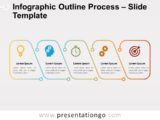 Free Infographic Outline Process Slide for PowerPoint