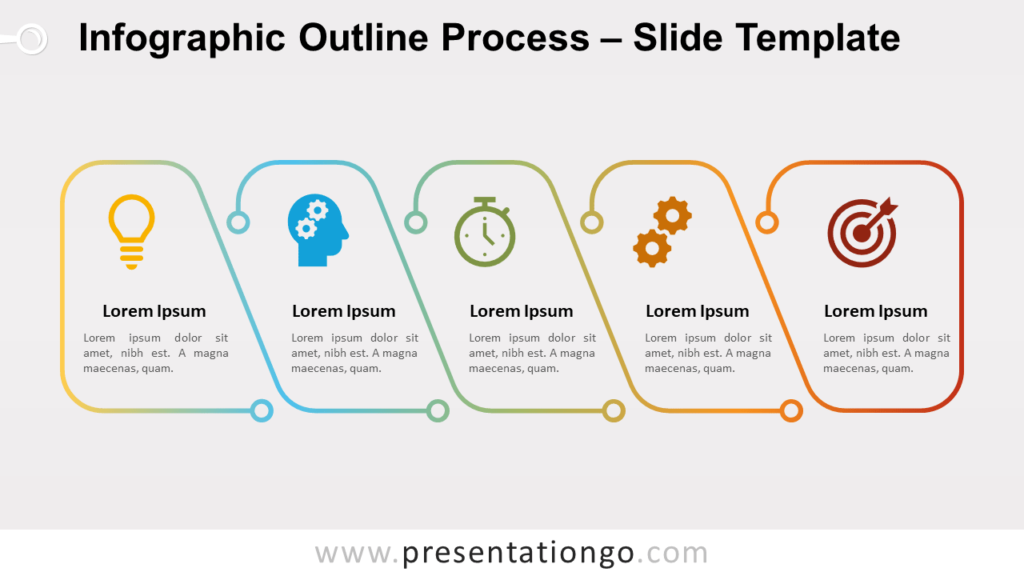 Free Infographic Outline Process Slide for PowerPoint and Google Slides