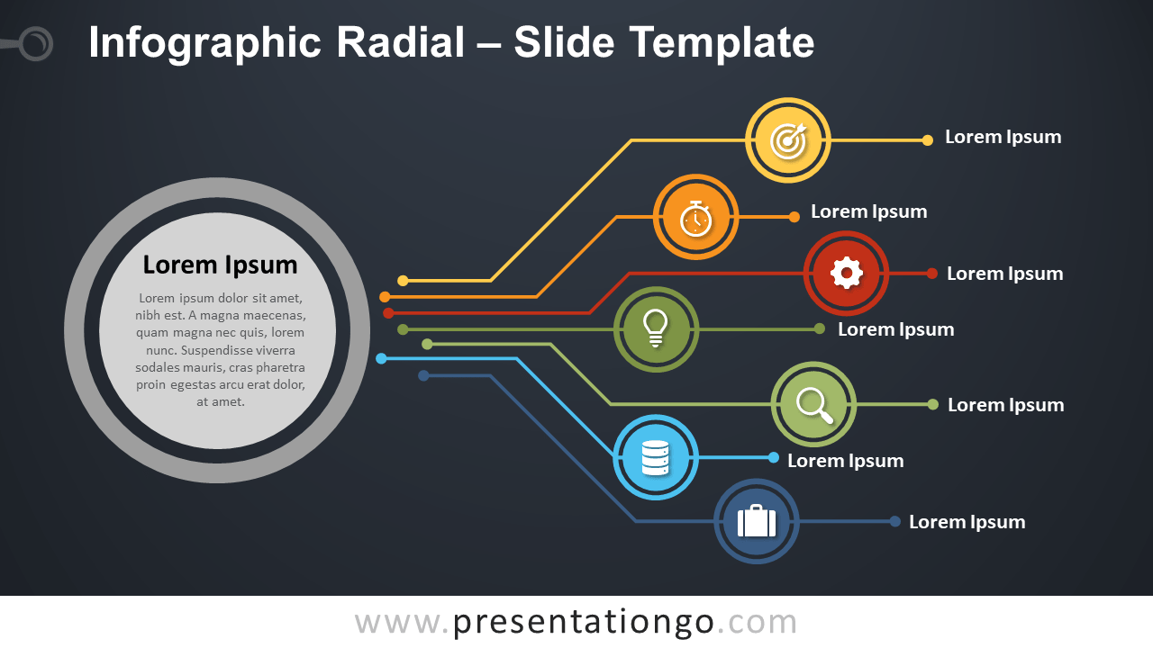 Free Infographic Radial Slide for PowerPoint and Google Slides