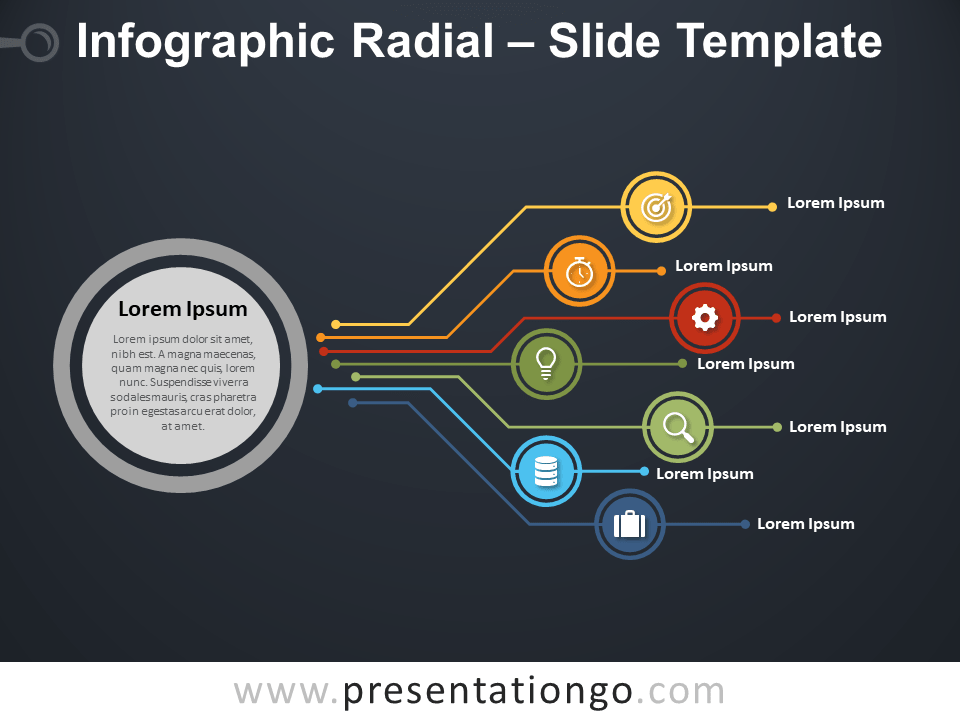 Free Infographic Radial Slide for PowerPoint