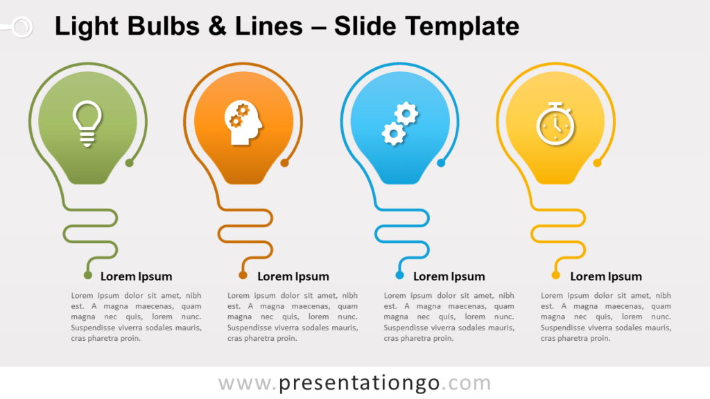 Free Light Bulbs Lines for PowerPoint and Google Slides