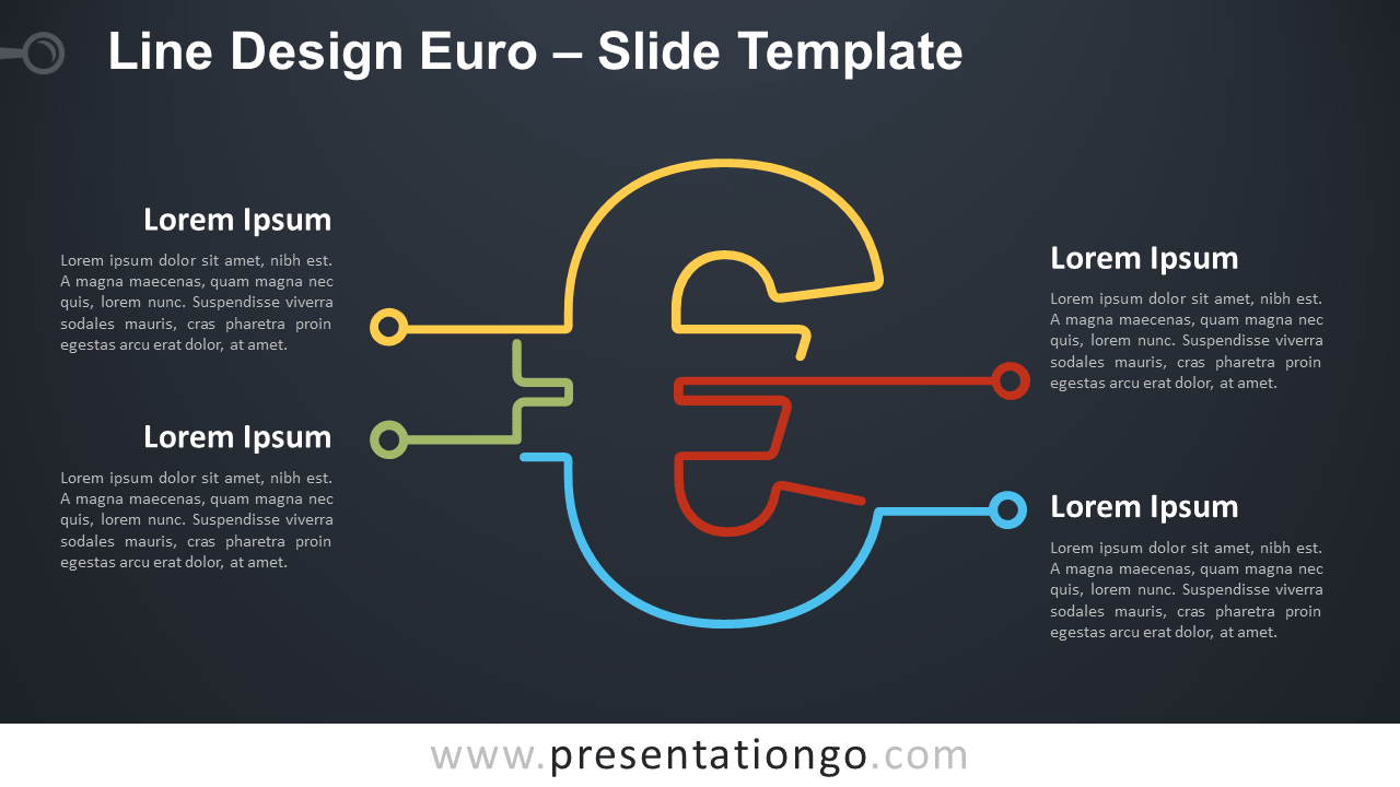 Free Line Design Euro Infographic for PowerPoint and Google Slides
