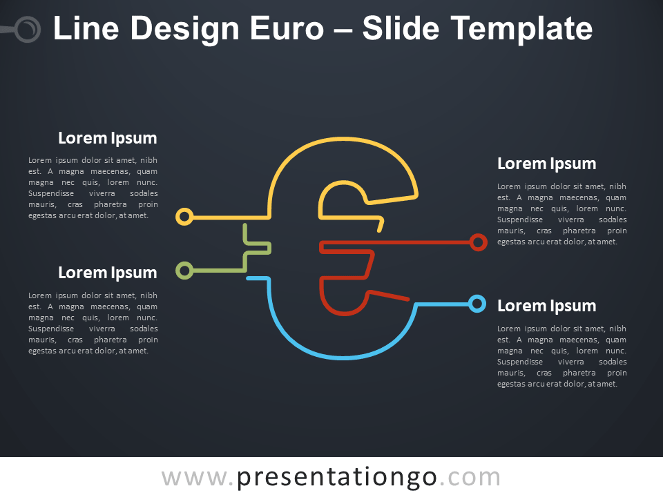 Free Line Design Euro Infographic for PowerPoint