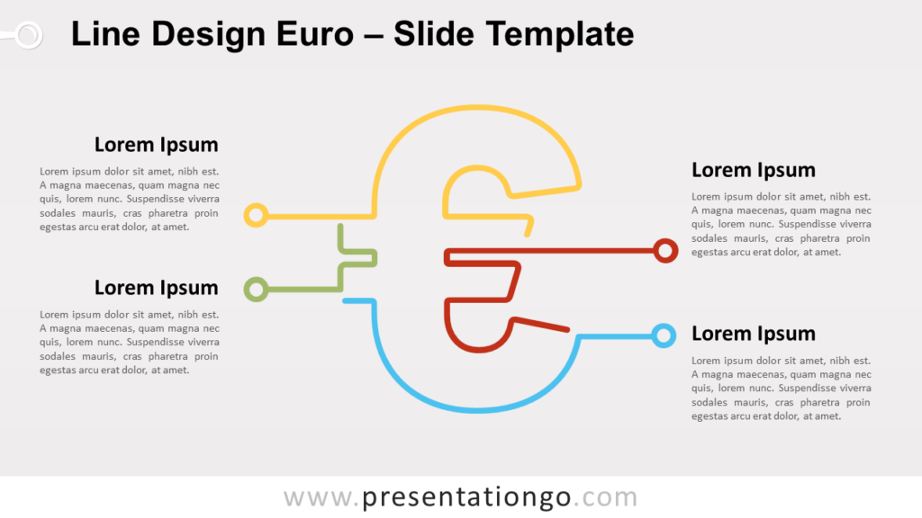 Free Line Design Euro for PowerPoint and Google Slides