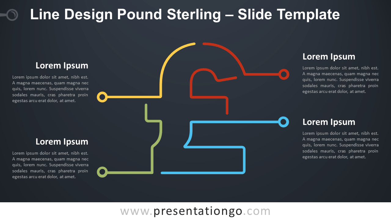 Free Line Design Pound Sterling Infographic for PowerPoint and Google Slides