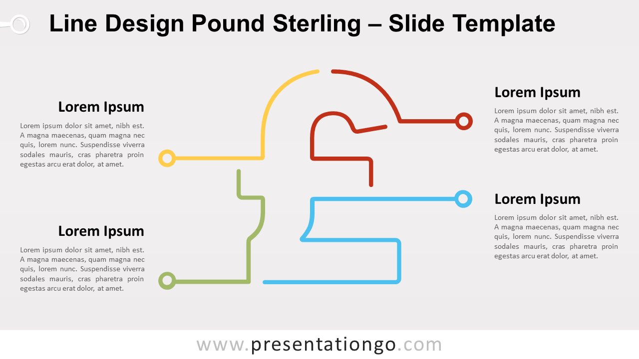 Free Line Design Pound Sterling for PowerPoint and Google Slides
