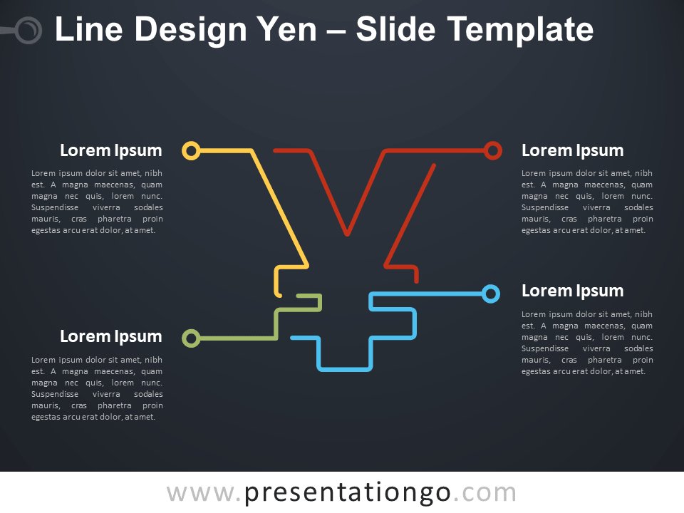Free Line Design Yen Infographic for PowerPoint